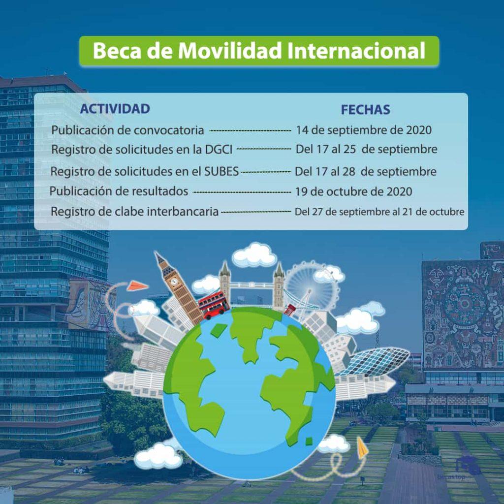 Beca internacional UNAM