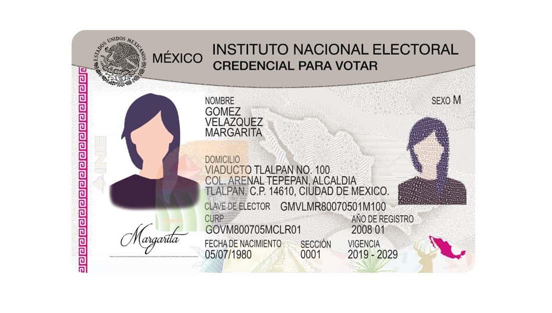 Ejemplo de una Identificación Oficial para el expediente de becas Edomex