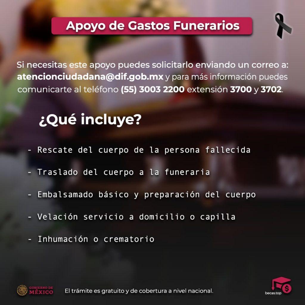 Apoyo de gastos funerarios