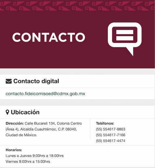 Contacto FIDEGAR